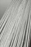 Tenda a fili con finitura in Lurex, 90x 250cm o 140x 250cm, colore a scelta, per porta, n. 253, Tessuto, bianco, 140 x 250 cm