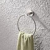 KES Handtuchring Handtuchhalter Edelstahl, Gebürstetes Finish, A2180-2