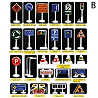 LSAltd Children Educational Toys City Road Buildings Parking Map Traffic Road Signs Car Toy Accessories Scene Map Game