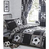SINGLE Duvet Cover Set Football Themed Single Bedding (Duvet Set (no curtains))