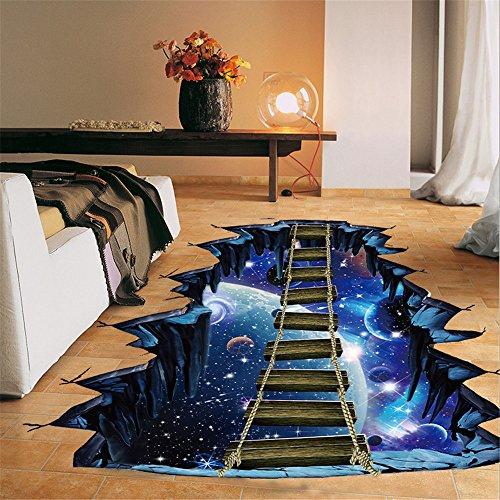 3D Star Series Boden Wandaufkleber Entfernbare Decals Vinyl Art Room Decor ()