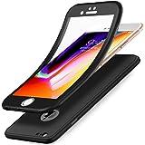 Kompatibel mit iPhone 5S/5 Hülle,iPhone SE Hülle,Full-Body 360 Grad Panzerglas Schutzfolie TPU Silikon Hülle Handyhülle…