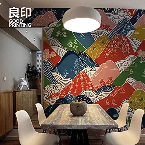 Carta da parati in tessuto giapponese non tessuto portico rivestimento murale senza soluzione di continuità soggiorno sala da pranzo carta da parati rivestimento murale ktv parete tv-300 * 210cm