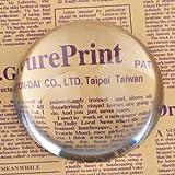 H&D - Grand dôme en verre grossissant - 10cm-Véritable loupe en verre de cristal - Presse-papier facile à glisser- Aide à la lecture de type professionnel pour les plans, cartes, journaux