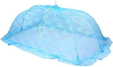 Baby Station Mosquito Net with Floral Design, Large (Blue)