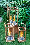 Terra Flame 700953164520Cape Cod Collection Laterne, Klein, Teak Holz Medium - 21in. Teak Wood