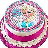 Cannellio Cakes vorgeschnittenen Essbarer Zuckerguss Cake Topper, 19,1cm rund...