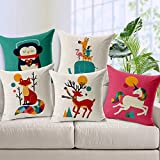 #2: Aart Abstract printed Cushion Cover with Fillers (Set of 5) by Aart Store