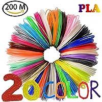 NuoYo PLA Filament 3D Stift PLA Filament 1.75mm 3D Pen 20 Farben 3D Print Filament 3D Printer Material 1.75mm