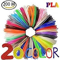 20color PLA Filamento 3d lápiz nuoyo filamento material Pen PLA 3d 1.75mm para 3d impresora 10m