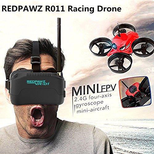 REDPAWZ R011 Drone con Telecamera 5.8G 40CH Micro FPV Racing App Mobile Controllo Grandangolare Selfie Drone modalità di Attesa in Altitudine con 1000TVL FOV 120 ° Occhiali Grandi FPV Occhiali FPV-RTF