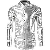 Chemise /à paillettes argent/ées Jogal pour homme Style disco ann/ées 70