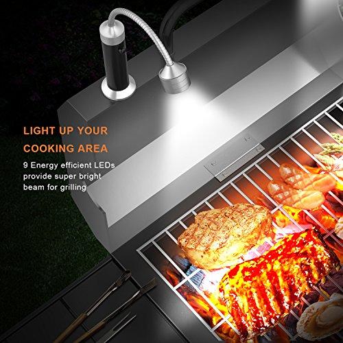 61JzdLQ89VL - FIREOR Grill Licht, Magnetische BBQ Licht Flexibel Grilllampe Outdoor Grill Lichter BBQ Zubehör Werkzeuge Set (2 Pack, Schwarz)