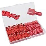 Senven® 60Pcs T-Tap Terminal Cable, T-Tap Empalme Rápido Kit, Grifo de Empalme de Cable Rápido y Conector Macho Spade Complet