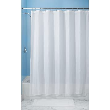 Buy InterDesign 96 Inch Carlton Spa Long Shower Curtain White Online At Low  Prices In India   Amazon.in