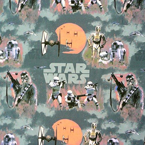 Desconocido Disney Star Wars Gris Naranja Cortina