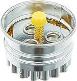 IBILI Linzer-Ausstecher gewellt 5 cm, Stahl, Silber/orange, 5 x 5 x 5 cm