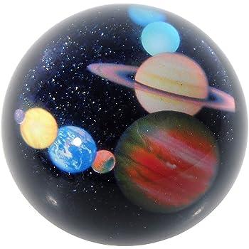 H&D 80 mm Halbkugel Kristall Ball Bemerkenswerte Sternenhimmel Design Briefbeschwerer Figuren Dekoration Craft für Kinder oder Weihnachts Geschenk, Holz, Planets
