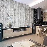 decomonkey | Fototapete Steinwand Steine 400x280 cm XXL | Design Tapete | Fototapeten | Tapeten | Wandtapete | moderne Wanddeko | Wand Dekoration Schlafzimmer Wohnzimmer | Grau Gelb