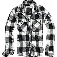 Brandit Uomo Check Camicia Rosso / Nero