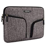 "DOMISO 11-11,6 Pollici Custodia Borsa Sleeve con 2 Tasche Resistente all'Acqua per Computer Portatile/Tablet/11.6"" MacBook Air/Microsoft Surface Pro 5, 4, 3/HP/Asus/Dell/Acer, Grigio"