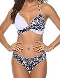 JFan Donna Costume da Bagno Push Up Imbottito Reggiseno Bikini Donna Due Pezzi Swimwear Abiti da Spiaggia