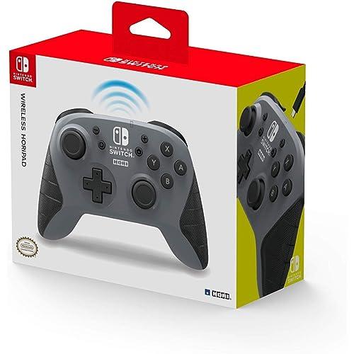Hori Controller Horipad Wireless (Grigio) - Ufficiale Nintendo - Nintendo Switch