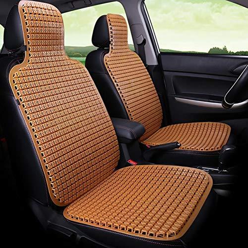 FENG Sommer Universal vierblättrige Blume Auto Sitzkissen, PVC Kunststoff Umweltschutz Auto Kissen, Komfort Massage PVC Perle (4 Farben),Yellow - Auto-blumen-sitzbezüge