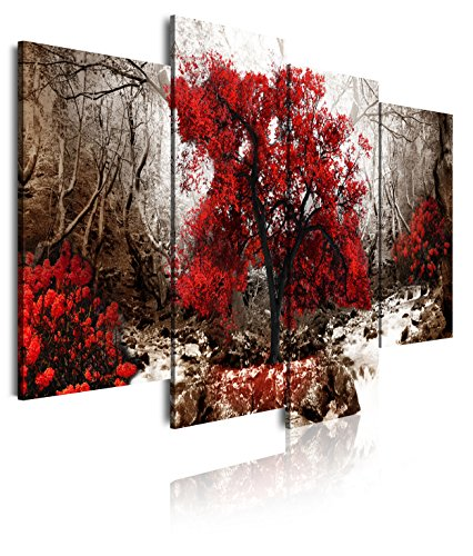 DekoArte 274 - Cuadro moderno lienzo 4 piezas paisaje