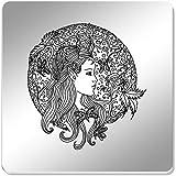 Azeeda 6 x 'Blumenfee Kreis' Spiegel Untersetzer (CR00069542)
