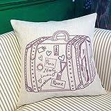 MAYUAN520 Cojines Sofa Cojines-Algodón Cojines Cojines Moderna Minimalista De Estilo De Dibujos Animados Lindo Cojin Cojines Cubierta Con 44 * 44Cm Core,Maleta