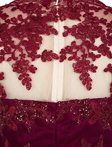 Find Dress Sexy Robe de Soirée Courte Princesse Femme Fille Robe de Cocktail pour Femme Ronde sans Manches Robe Demoiselle d'Honneur Fille Grande Taille en Tulle avec Sequins Dentelle Bleu Royal