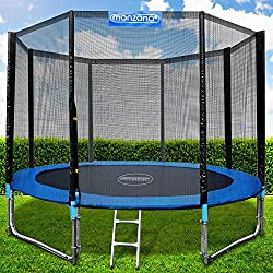 Monzana trampoline Ø 366 cm TÜV SÜD GS Certified complete set including safety net, ladder, edge cover & accessories - children's trampoline garden trampoline