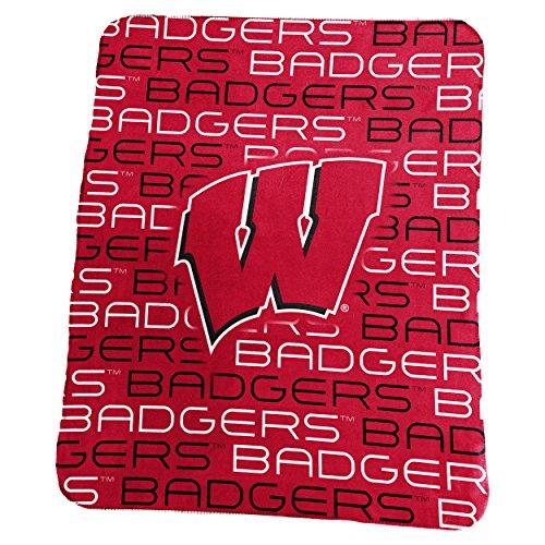 Logo Marken Wisconsin Classic Fleece, Rot, One size
