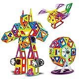 Zcoins 140 Stücke Standard Magnetische Bausteine Kit Set Enthält Frreis Rad Auto Rad Magnet spielzeug für Kinder