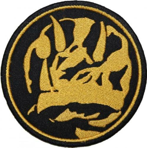 Mighty Morphin Power Rangers Aufnäher (9 cm) Blau Münze Power Ranger Patch bestickt Eisen/Nähen auf Badge Souvenir DIY Kostüm