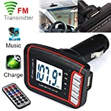 Colorful(TM) Wireless FM Transmitter SD / MMC Karte mit Fernbedienung, LCD Auto MP3 MP4 Player