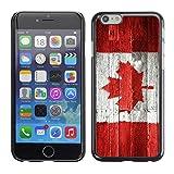 Graphic4You Vintage Uralt Holz Kanada Kanadisch Flagge Design Harte Dünn Hülle Tasche Schale Schutzhülle für Apple iPhone 6 / 6S