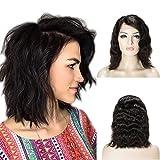 Perruque Naturelle Lace Frontal [Réglable & Respirant] 100% Remy Hair Glisse & Silky [Densité:130%][ 30CM ][ WAVY ]
