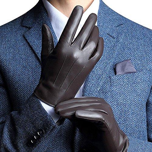 Harrms guantes de hombre para invierno de mejor genuino Nappa mejor cu