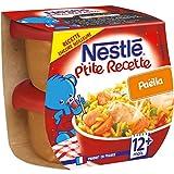 Nestlé Bébé P'tite Recette Paëlla - Plat Complet dès 12 Mois - 2 x 200g - Lot de 8