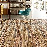 TPulling Neue Exquisite Mode 3D Holz Aufkleber selbstklebende Bodenbelag Aufkleber Simulation Holzboden Aufkleber Küche Schlafzimmer Wohnzimmer Boden PVC Aufkleber (H)