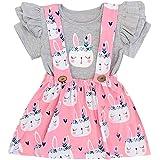 Rock T/üt/ü Pettiskirt Geburtstag Geschenk Outfits Verkleidung YUAN Baby M/ädchen Kleidung Set 2 St/ück Tops