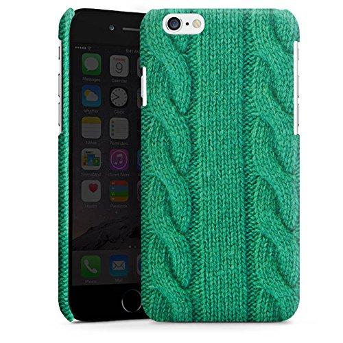 Apple iPhone 5s Housse Étui Protection Coque Look laine Corde Vert Cas Premium brillant