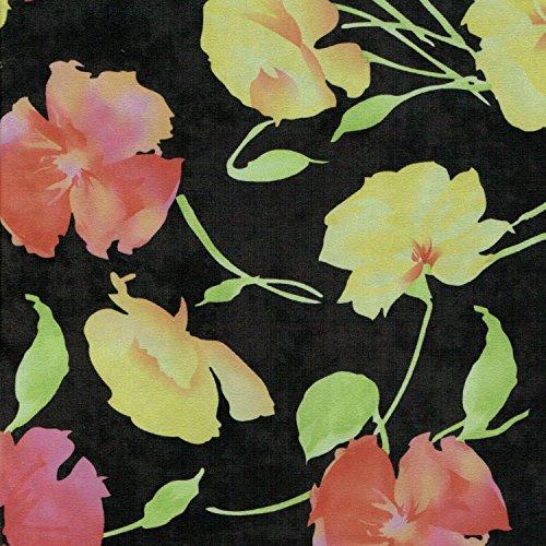 Tulpen bedruckt Premium Qualität Faux Wildleder Kleid Stoff, 152,4cm 150cm Breite-Meterware -