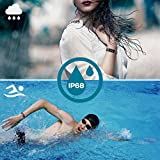 Fitness Tracker CHEREEKI Colour Screen Fitness Trackers With 24 Hours Heart Rate Monitor IP68 Waterproof Activity Tracker 14 Exercise Modes Smart Watch Screen Brightness Adjustable Weather Display Not