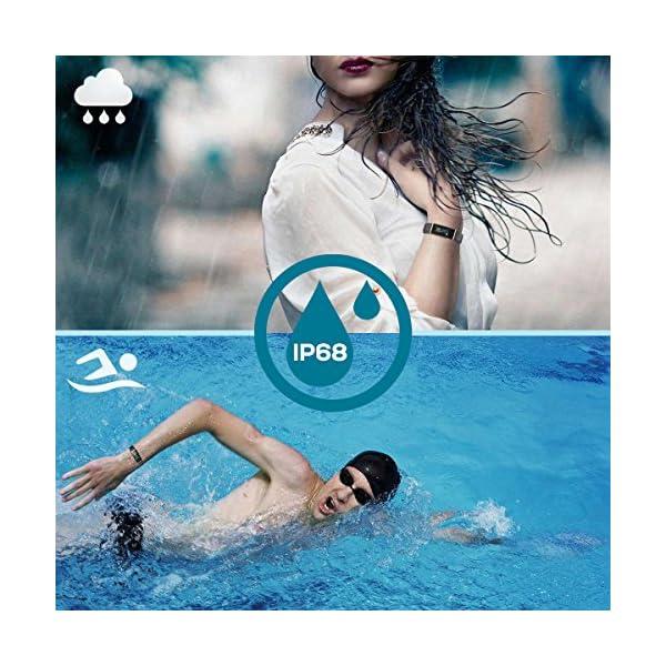 CHEREEKI Pulsera Inteligente IP68, Fitness Tracker Pantalla Color Bracelet… 4
