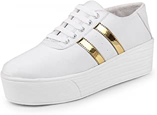 Zapatoz Womens Synthetic White Casual Shoe