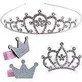 Principessa Corona Cerchietto Copricapo Ragazza strass cristallo tiara Bambini diadema con Pettine per Utilizzato per feste d