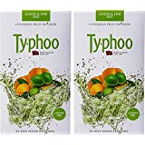 Typhoo Lemon & Lime Zest Fruit Infusion - 50 heat sealed envelopes ( 2 Packs of 25 envelopes in each)
